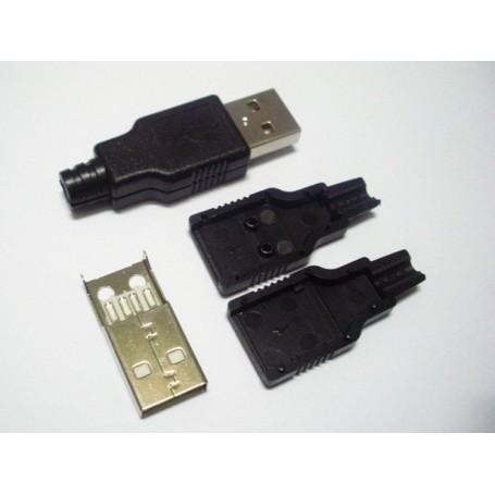 USB-A نری لحیمی (Plug) به همراه کاور