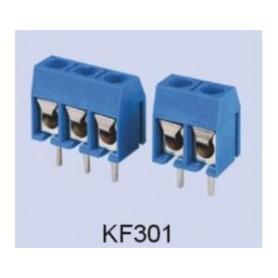 ترمینال پیچی مدل KF301-3Pin رنگ آبی بسته 5 تایی