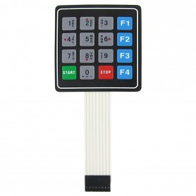 کیپد 4x4 فلت دار مدل 0-9 F1-F4 موبایلی