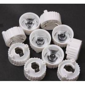 لنز LED 15^ 20mm به همراه هولدر بسته 5 تایی
