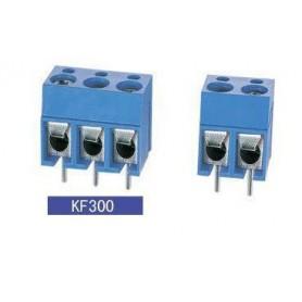 ترمینال پیچی مدل KF300-2Pin رنگ آبی بسته 5 تایی