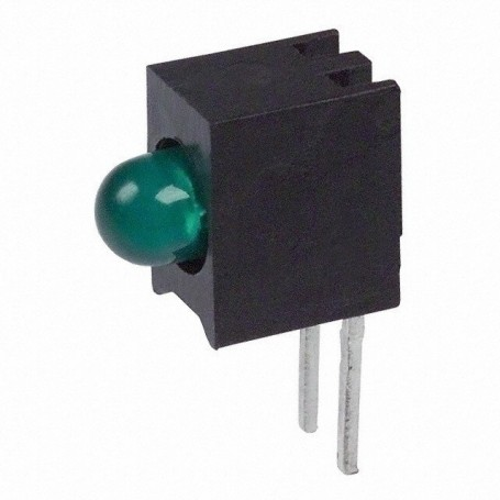 LED قابدار تکی سبز رایت 3mm بسته 10 تایی