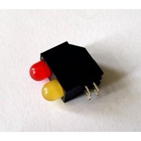 LED قابدار دوبل قرمز-زرد رایت 5mm بسته 10 تایی