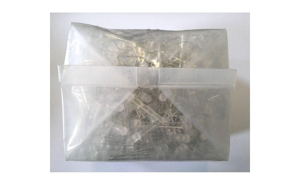 LED مات آبی (بدنه سفید) 5mm بسته 1000 تایی