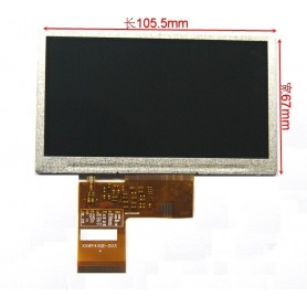 نمایشگر تمام رنگی 4.3 اینچی بدون تاچ اسکرین TFT LCD