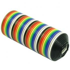 کابل فلت 30 رشته رنگی یک متری