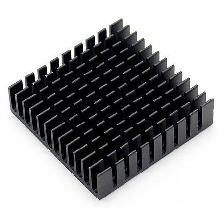 هیت سینک مشکی مربعی سایز 2.75x2.75x0.75