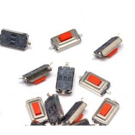 تک سوئیچ SMD سایز 3x6x2.5 قرمز بسته 10 تایی