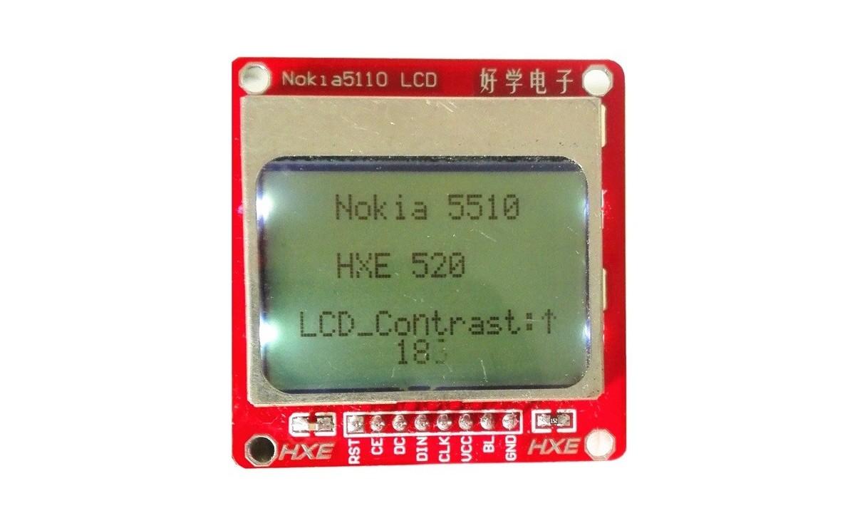 نمایشگر NOKIA 5110 84MM X 84MM دارای بک لایت