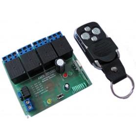 فرستنده گیرنده 4 کاناله رادیویی با ریموت کد لرن