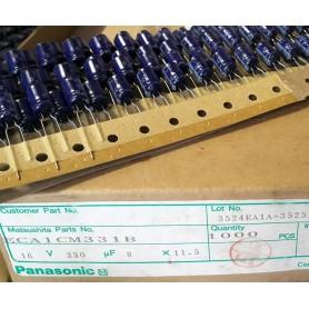 خازن الکترولیتی 330uF 16V ژاپنی Panasonic بسته1000 تایی