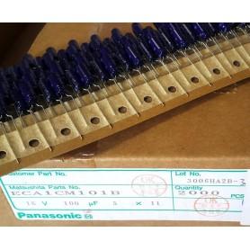 خازن الکترولیتی 100uF 16V ژاپنی Panasonic بسته2000تایی