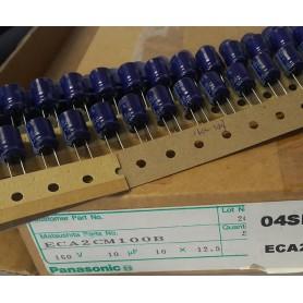 خازن الکترولیتی 10uF 160V ژاپنی Panasonic بسته500تایی