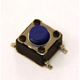 تک سوئیچ 6x6x5 کوتاه 4 پایه SMD آبی بسته 10 تایی