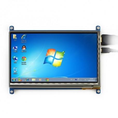 نمایشگر 7 اینچ لمسی دارای ورودی HDMI مناسب برای انواع برد های دارای پورت HDMI