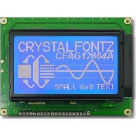 نمایشگر GLCD 64*128 گرافیکی بک لایت آبی با درایور KS108 فریم کوچک