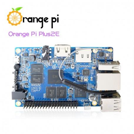 برد چهار هسته ای Orange Pi Plus 2E دارای 2GB RAM و وایفای داخلی