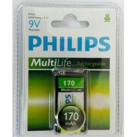 باتری کتابی قابل شارژ فیلیپس MultiLife با ظرفیت 170mAh