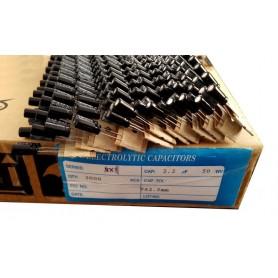 خازن الکترولیتی 2.2uF/50V بسته 2000 تایی