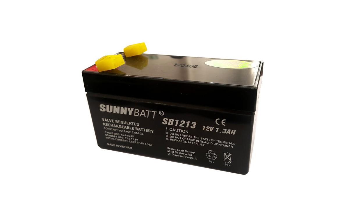 باتری خشک 12 ولت 1.3 آمپر ساعت مارک SunnyBatt