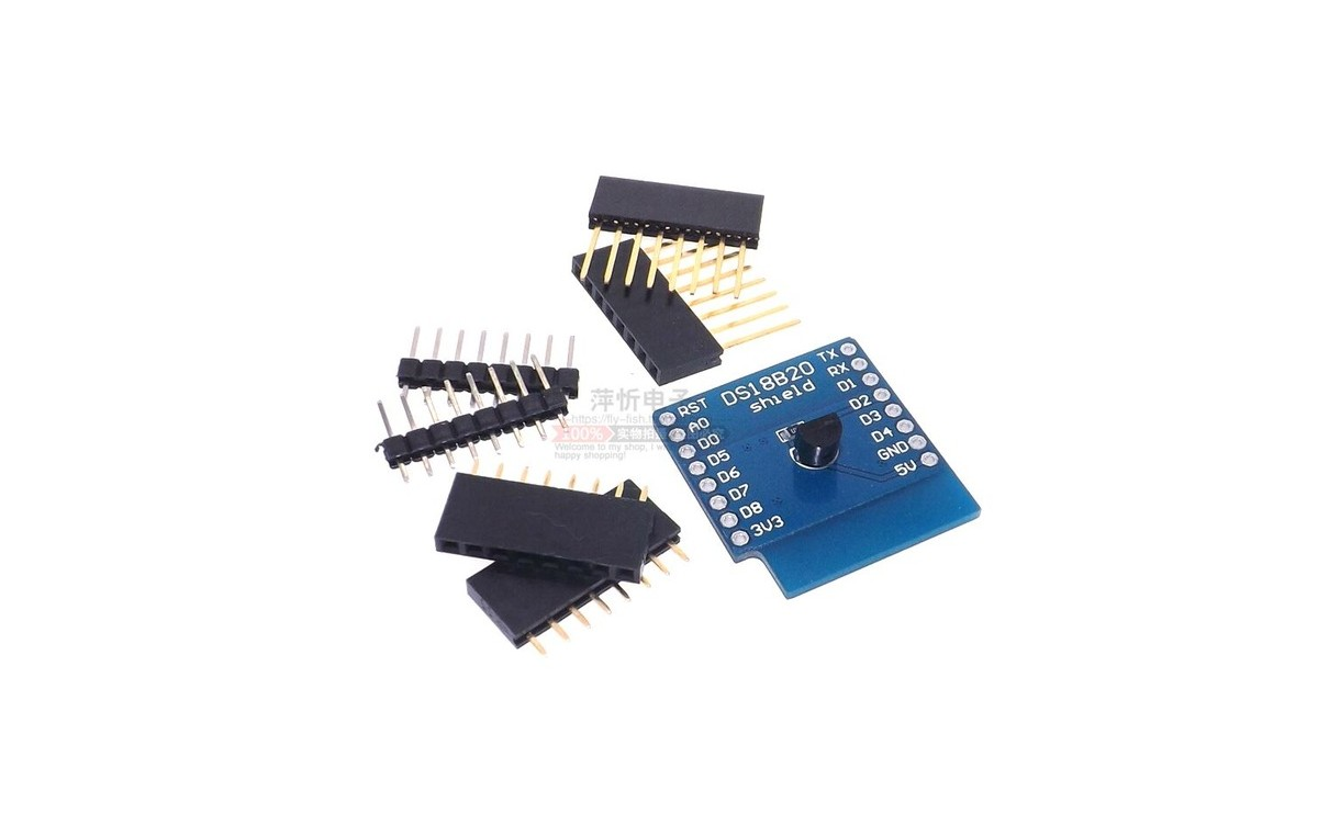 شیلد سنسور دمای DS18B20 برد Wemos Mini D1