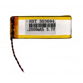 باتری لیتیوم پلیمر 3.7v ظرفیت 2000mAh