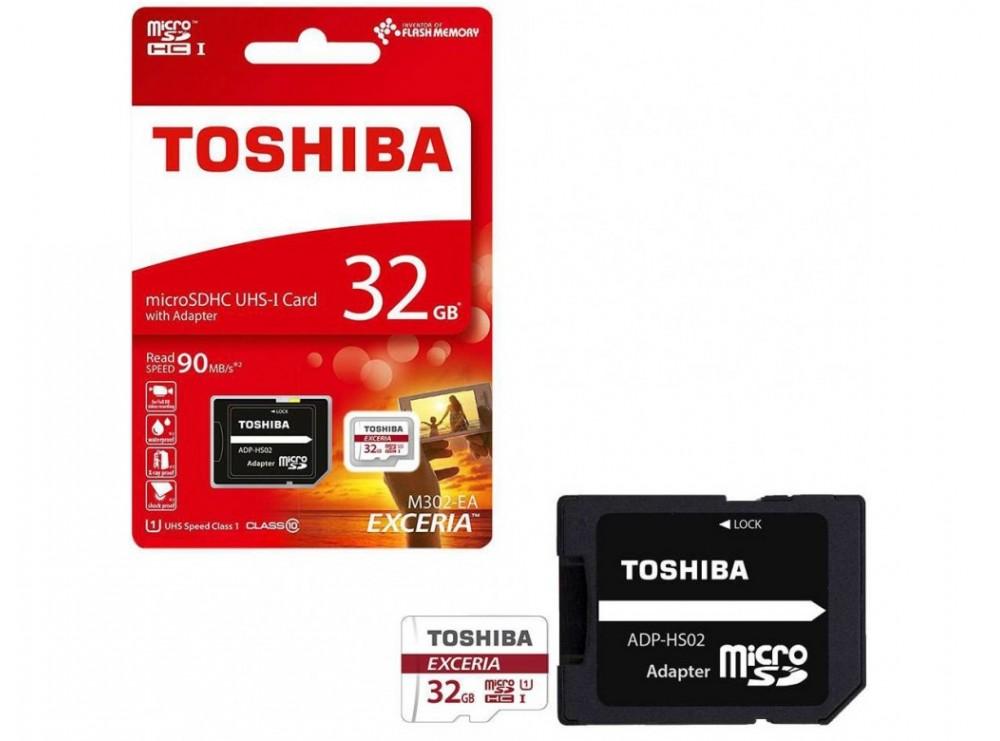 کارت حافظه MicroSDHC Class10 U3 مارک Toshiba ظرفیت 32GB
