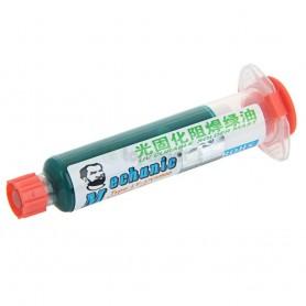 رنگ محافظ مدار چاپی UV سبز 10cc مارک Mechanic