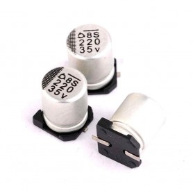 خازن SMD الکترولیت 10uF / 50Vسایز 5.8x6.3