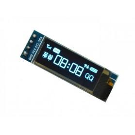 ماژول نمایشگر OLED تک رنگ 0.91 اینچ دارای ارتباط I2C و چیپ درایور SSD1306