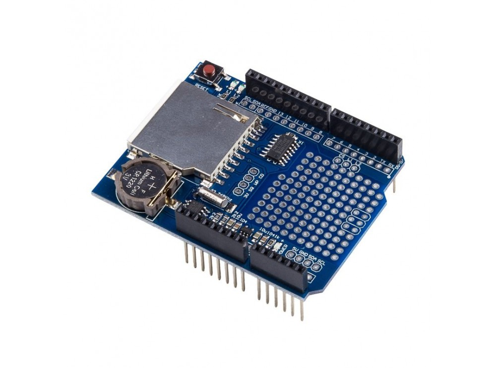 شیلد دیتالاگر آردوینو Arduino Data Logging Shield