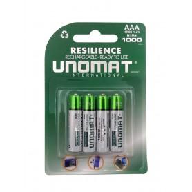 باتری نیم قلمی قابل شارژ 1000mAh چهار تایی مارک Unomat