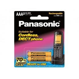 باتری نیم قلمی قابل شارژ 650mAh دو تایی مارک Panasonic