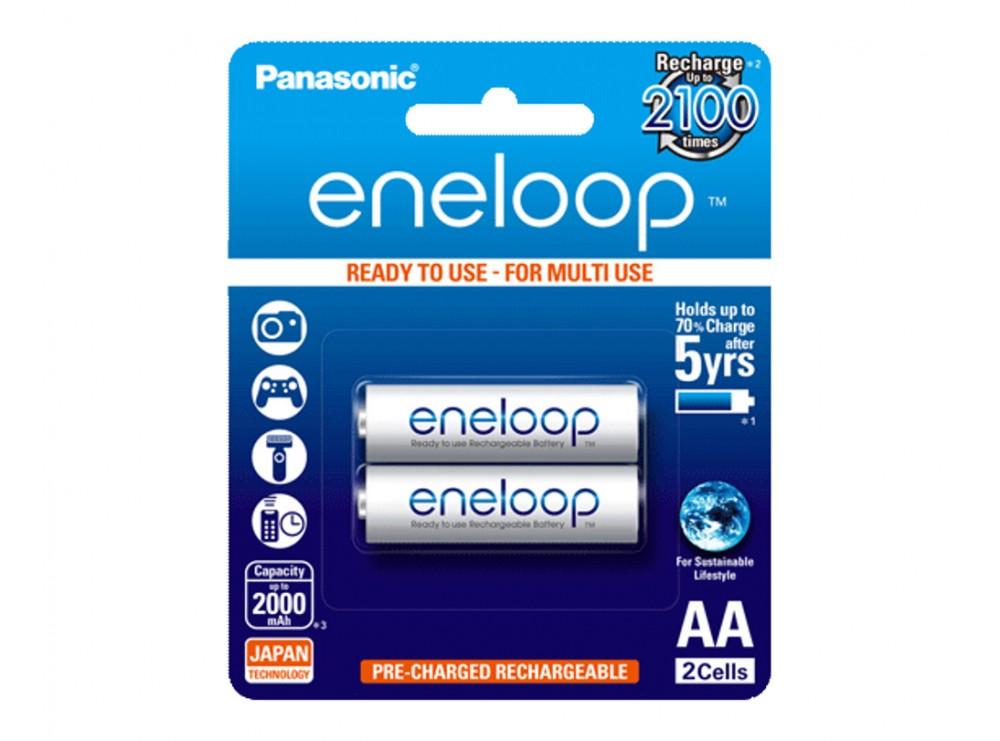 باتری قلمی eneloop قابل شارژ 2000mAh دو تایی مارک Panasonic