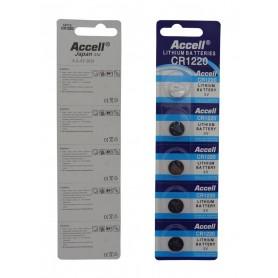 باتری سکه ای 3 ولت CR1220 ورق 5 تایی مارک Accell