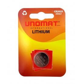 باتری سکه ای 3 ولت CR2025 مارک Unomat