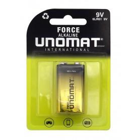 باتری کتابی 9 ولت آلکالاین مدل Force مارک Unomat