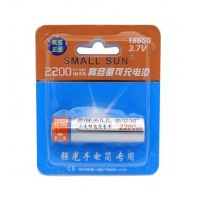 باتري لیتیوم یون 3.7v سایز 18650 2200mAh مارک Small Sun