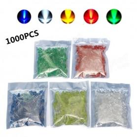 LED سبز 3mm مات بسته 1000 تایی