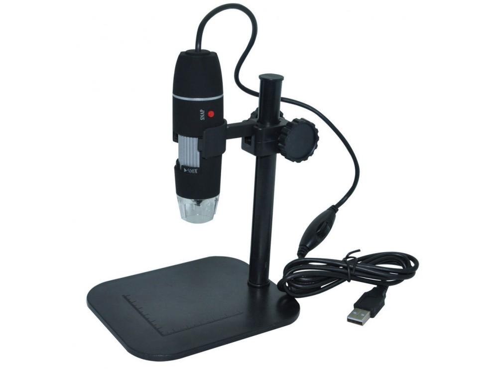 میکروسکوپ دیجیتال 500X USB Digital Microscope پایه ثابت