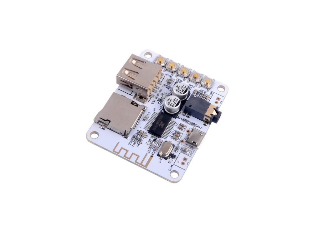 ماژول گیرنده بلوتوث صوتی با قابلیت پخش آهنگ از USB و MCRO SD