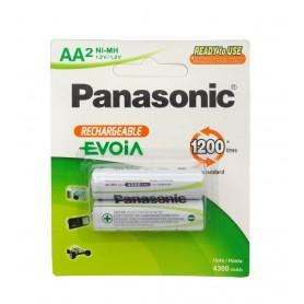 باتری قلمی EVOiA قابل شارژ 4300mAh دو تایی مارک Panasonic