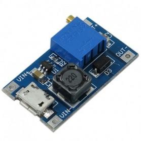 ماژول رگولاتورافزاینده 2 آمپر باورودی میکرو USB