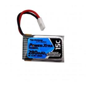 باتری لیتیوم پلیمر 3.7v ظرفیت 280mAh تک سل 15c مارک PowerXtra