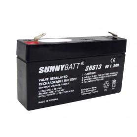 باتری خشک 6 ولت 1.3 آمپر ساعت مارک SunnyBatt