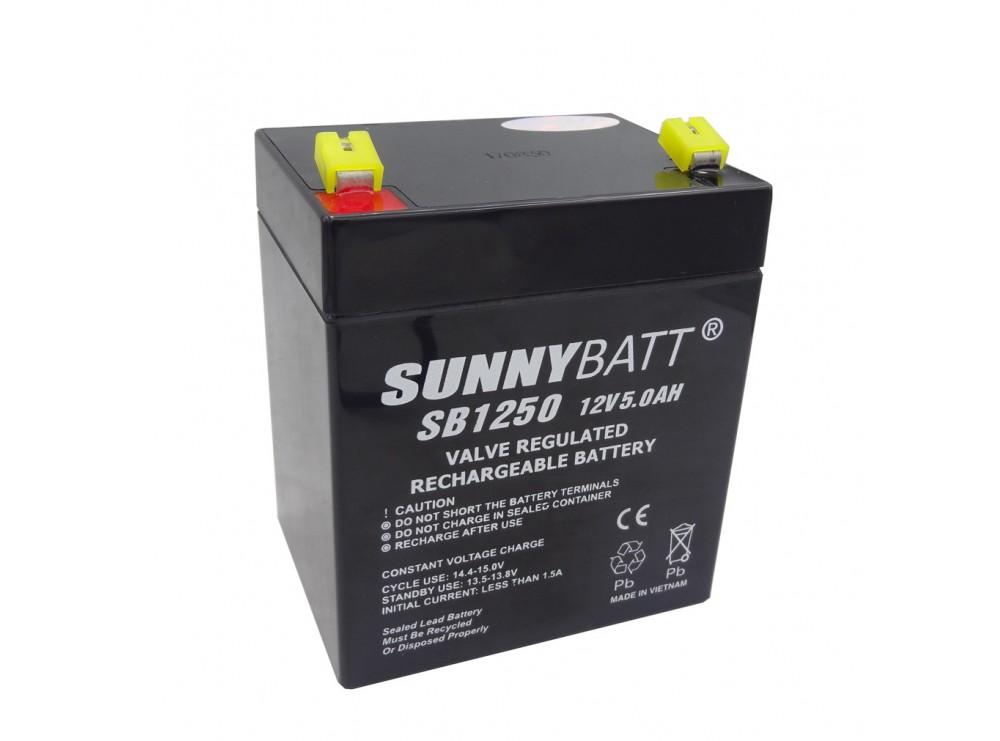 باتری خشک 12 ولت 5 آمپر ساعت مارک SunnyBatt