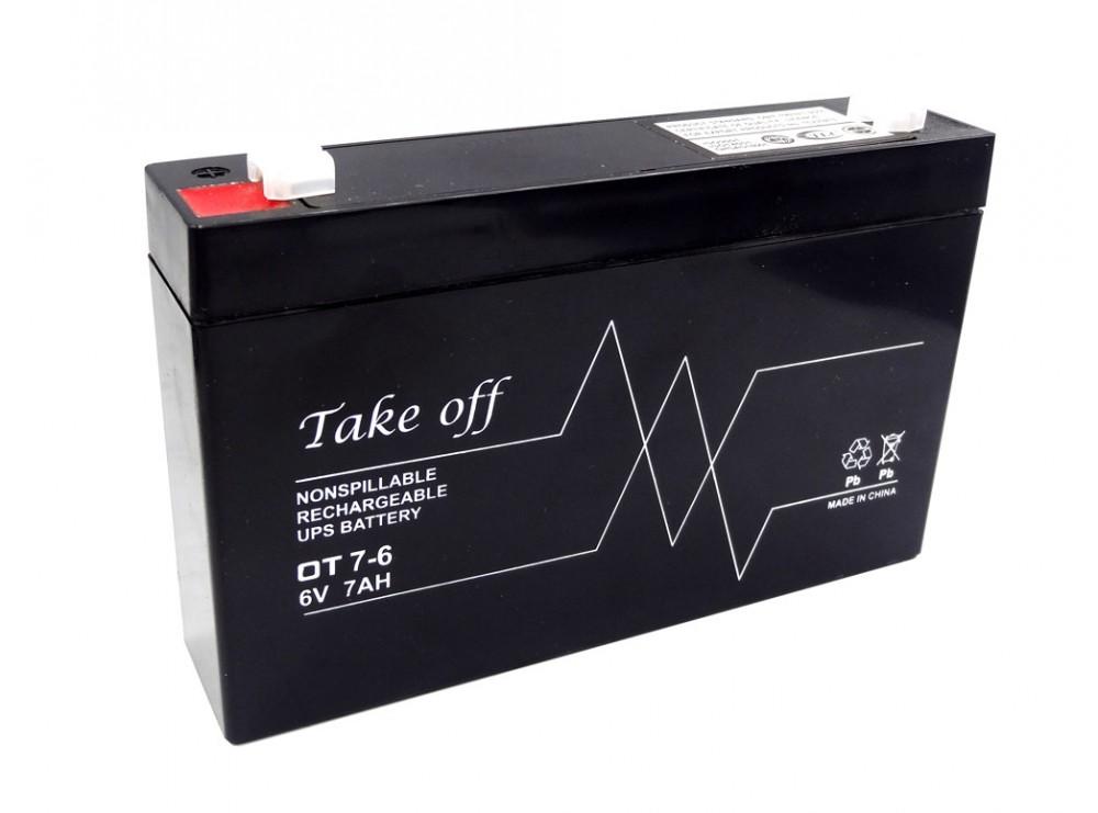 باتری خشک 6 ولت 7 آمپر ساعت مارک Take-Off