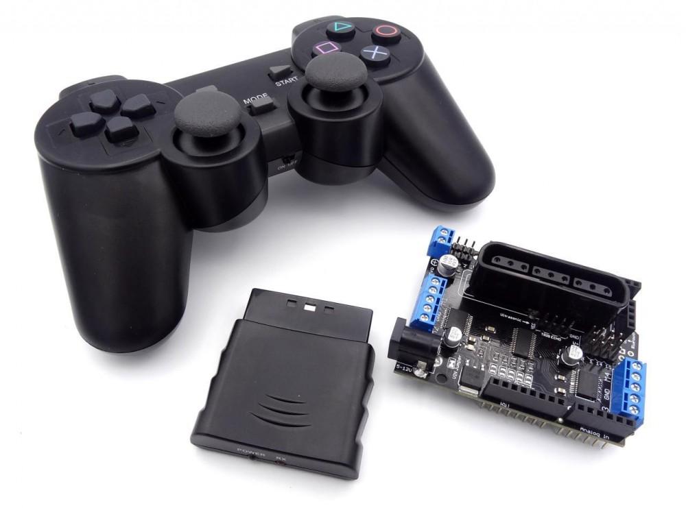 شیلد آردوینو درایور موتور سروو به همراه دسته کنترل PS2