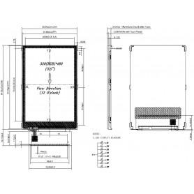"""نمایشگر """"TFT LCD 3.5 رنگی بدون تاچ اسکرین"""