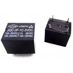 رله 3V-10A تک کنتاکت میلون مارک LIMING کد JQC-3F-1C-3VDC
